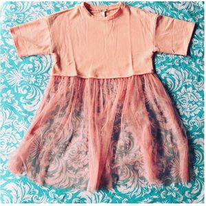 FOREVER 21 shirt with sheer tulle dress